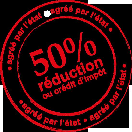 50% de reduction d'impots